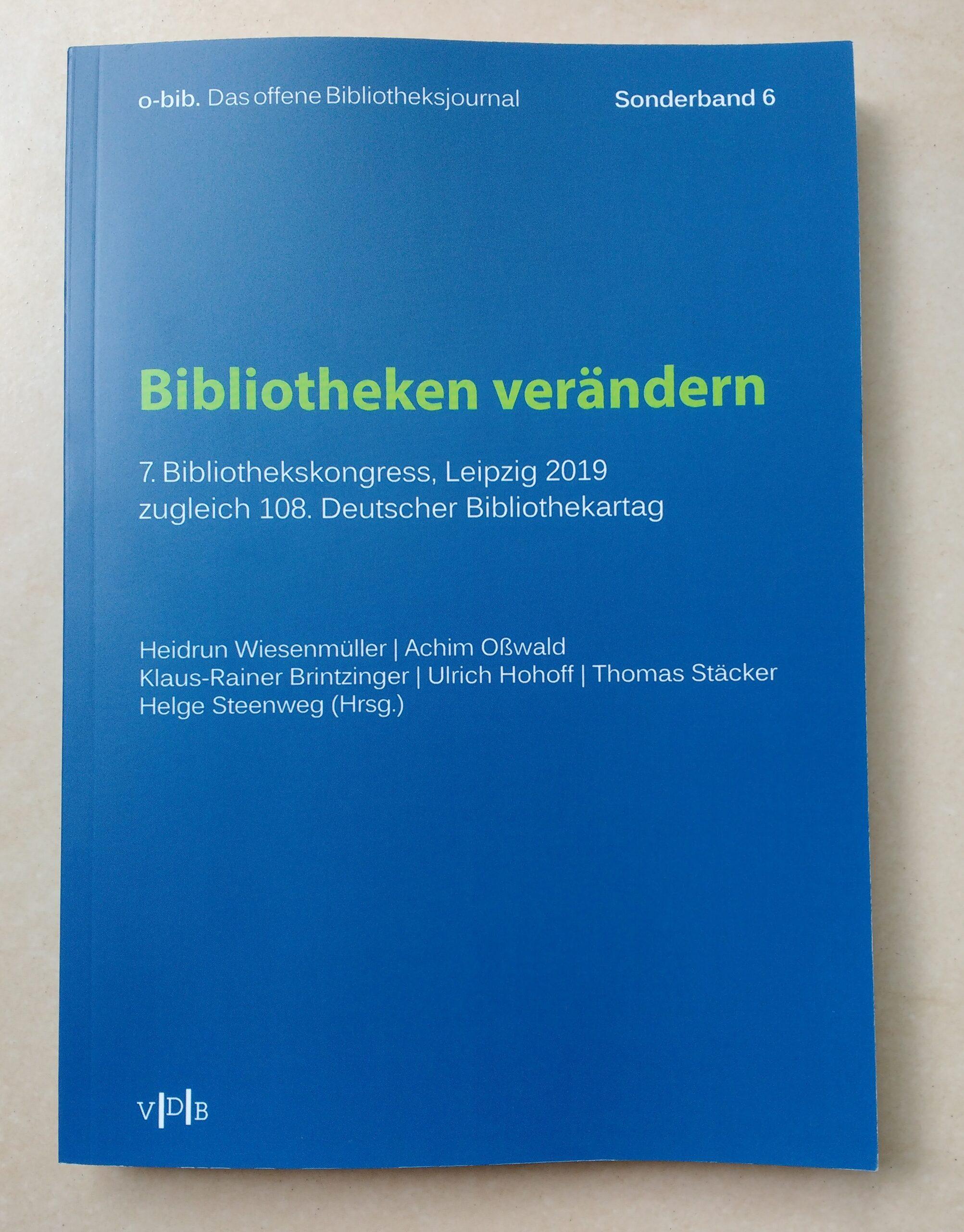 Tagungsband zum Leipziger Bibliothekskongress jetzt auch gedruckt