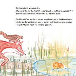 """Auszug aus dem Kinderbuch """"Dem Leuchten auf der Spur""""."""